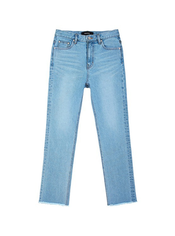 Straight High Waist Jeans in Blue_VJ9SL0090
