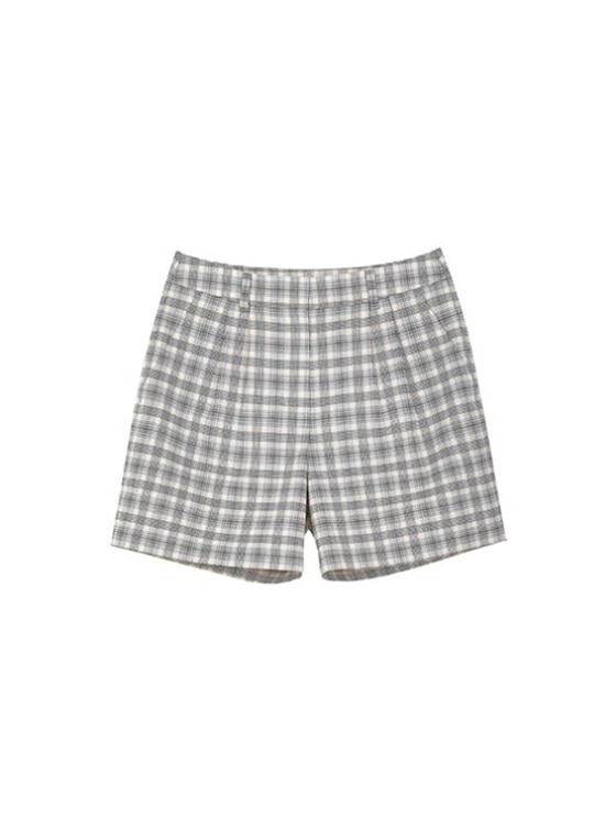 Check Pintuck Shorts in Check_VW9SL0120