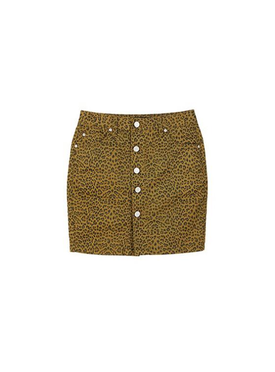 Leopard High Waist Skirt in Leopard_VW9SS0100