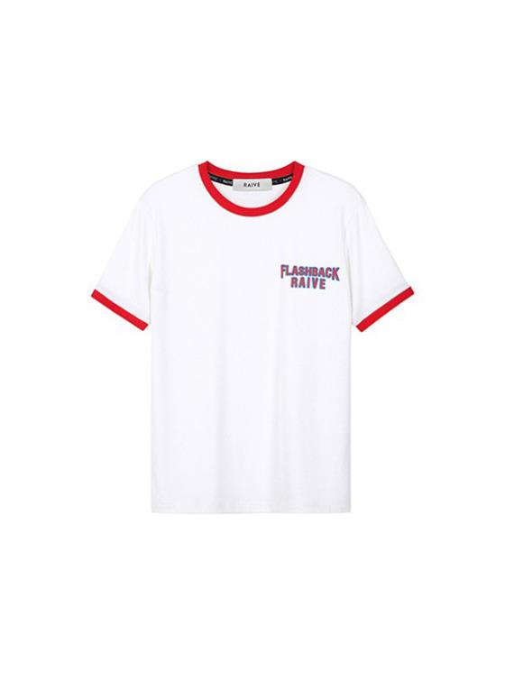 Flashback Ringer Tee in O/White(Red)_VW9SE0230