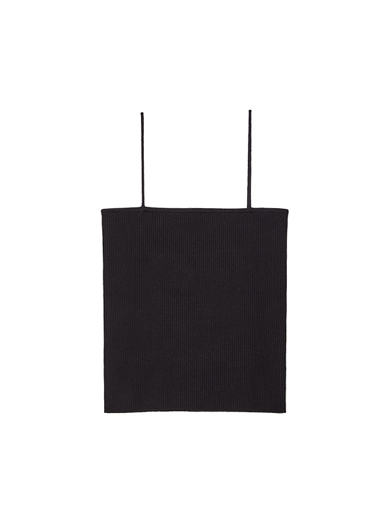 Ribbed Knit Camisole in Black_VK9MP0930