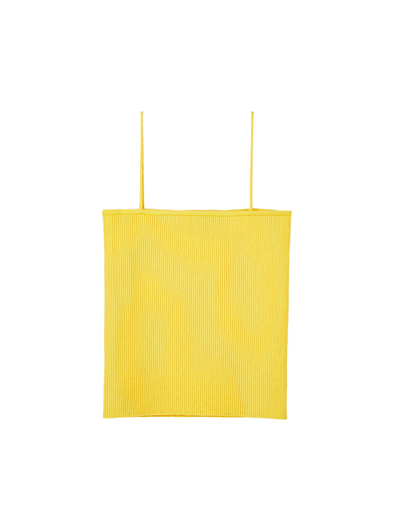 Ribbed Knit Camisole in Yellow_VK9MP0930