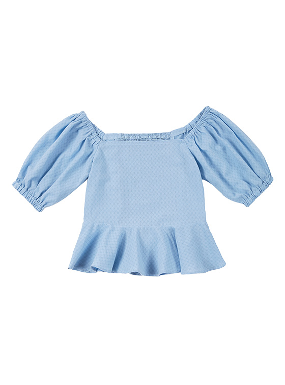 Square Puff Sleeve BL in S/Blue_VW9MB0330