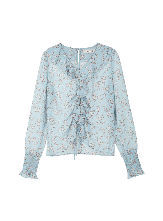 Flower See-through BL in S/Blue_VW9MB0550