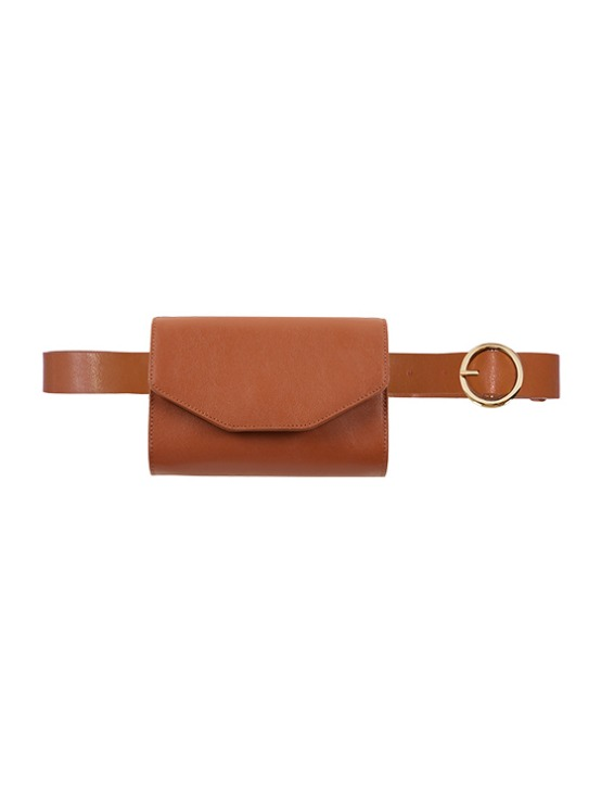 Leather Belt Bag in Brown_VL9AX0290