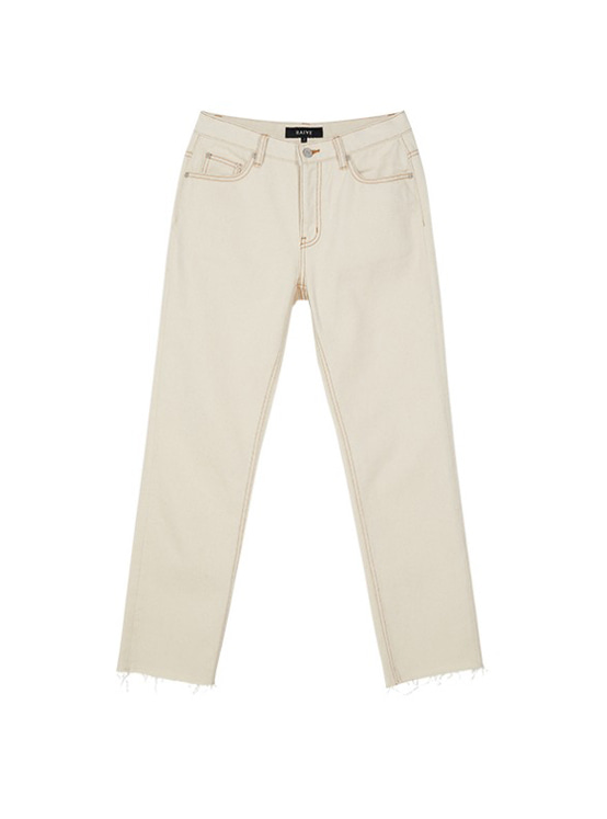 Loosefit Denim Pants in Ivory_VJ9AL0430