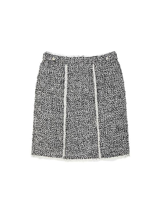 Tweed Mini Skirt in Black_VW9WS0440