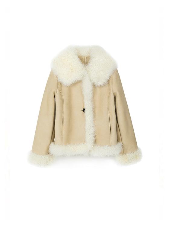 Shearling Muton Jacket in L/Beige_VL8WJ0260