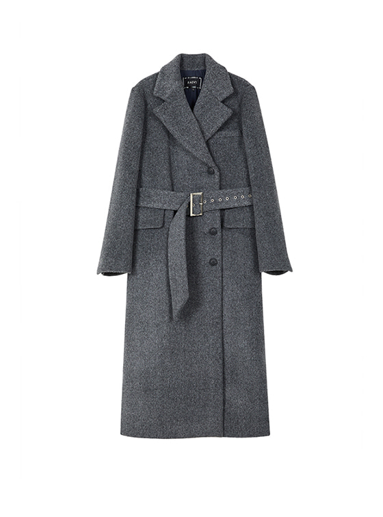 Maxi Long Belted Coat in D/Grey_VW8WH0080