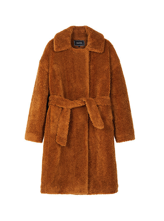 Quilted Teddy Bear Coat in Brown_VW8WH0090