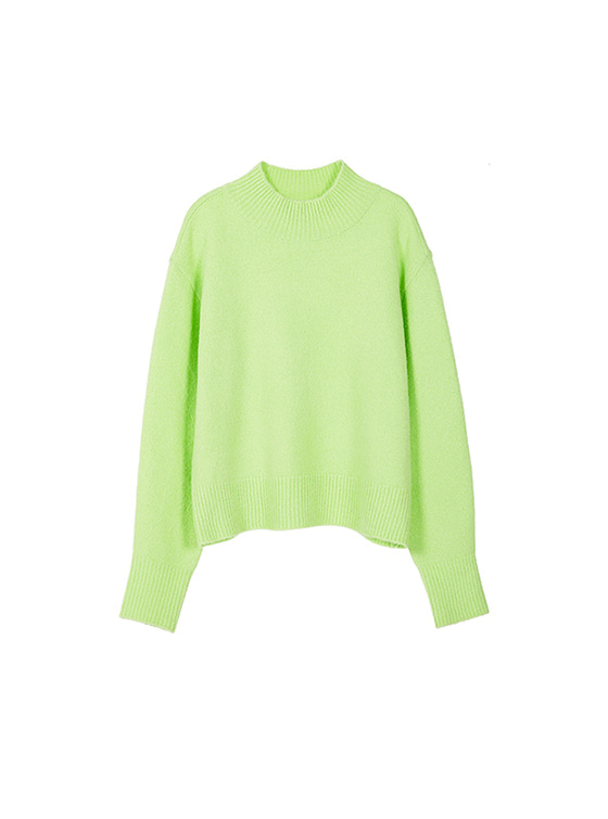 Oversized High Neck Knit in L/Green_VK8WP0510