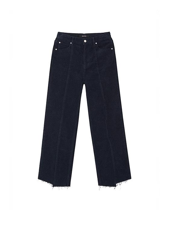 Corduroy Loose Fit Pants in Navy_VW8AL0840
