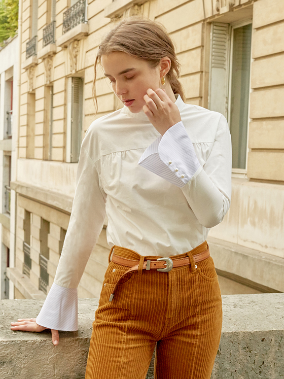 Long Cuffs Shirt in White_VW8AB0480