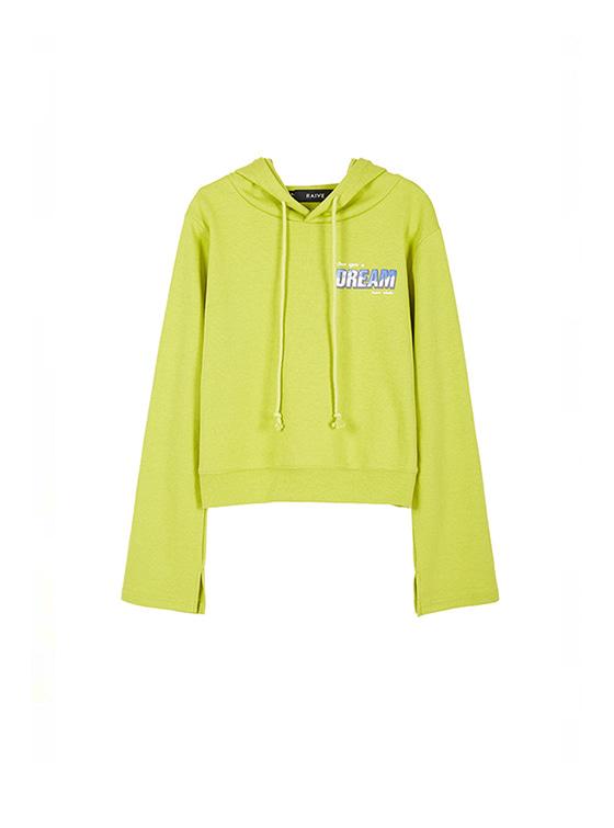 Cropped Hoodie Sweatshirt in L/Green_VW8AE0620
