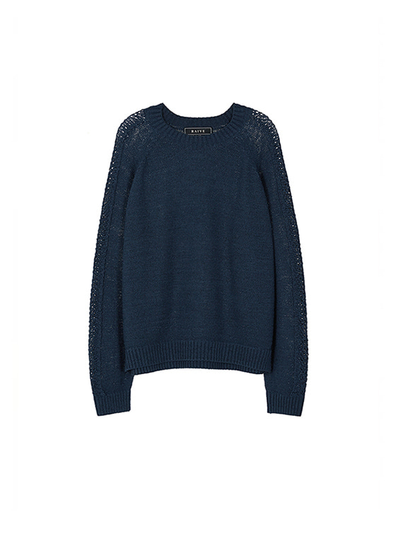 Scasi Knit Pullover in Navy_VK8AP0550