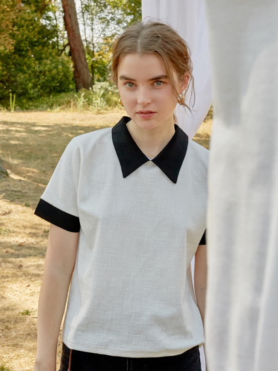 Color Scheme Jacquard Top in White_VW8AE0650