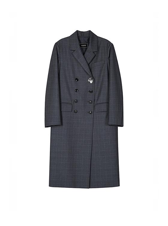 Ornament Maxi Double Jacket in Grey_VW8AJ0210