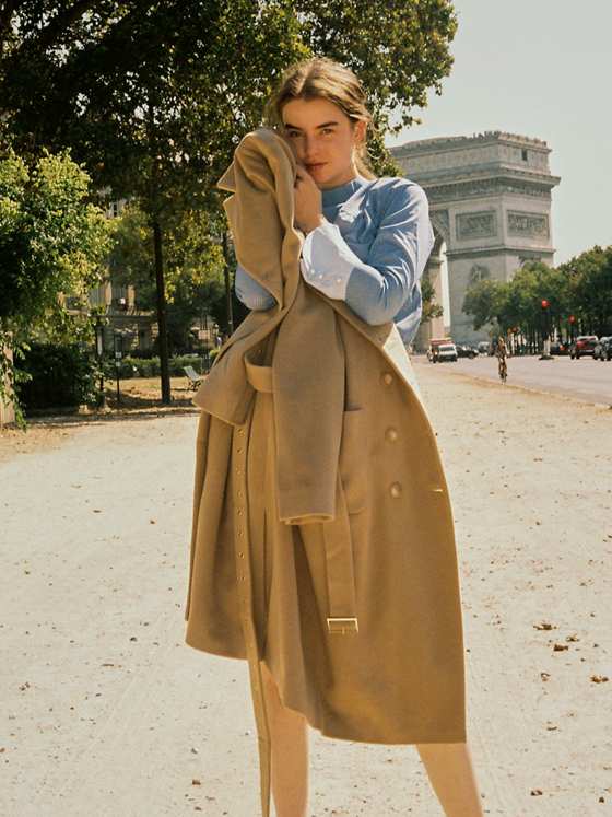 Cashmere Double Coat in Beige_VW8WH0070