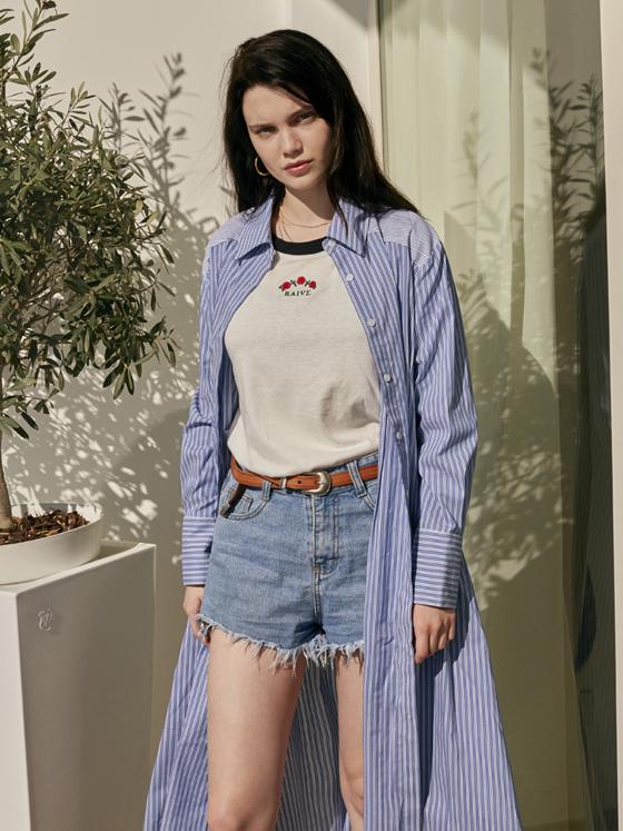Maxi Shirt One Piece in Stripe+Blue_VW8SO0450