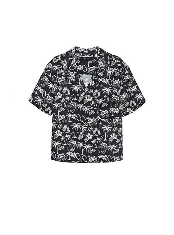 Original Pattern Bowling Shirt in Black_VW8MB0390