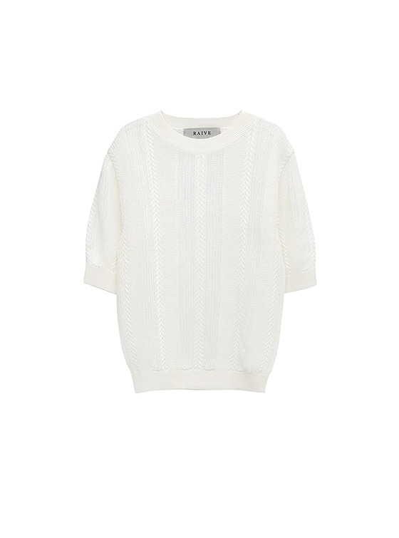 See-Through SS Knit in White_VK8MP0690