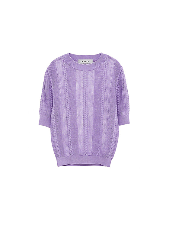 See-Through SS Knit in L/Purple_VK8MP0690
