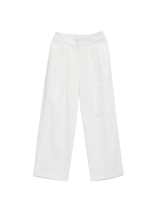 Linen Wide Pants in White_VW8ML0770